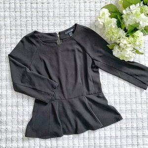 Black Peplum Blouse
